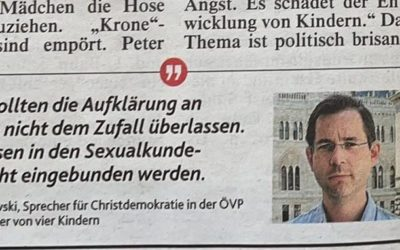Affaire um Sexualunterricht – Krone zitiert ehemaligen Präsidenten der Plattform Christdemokratie
